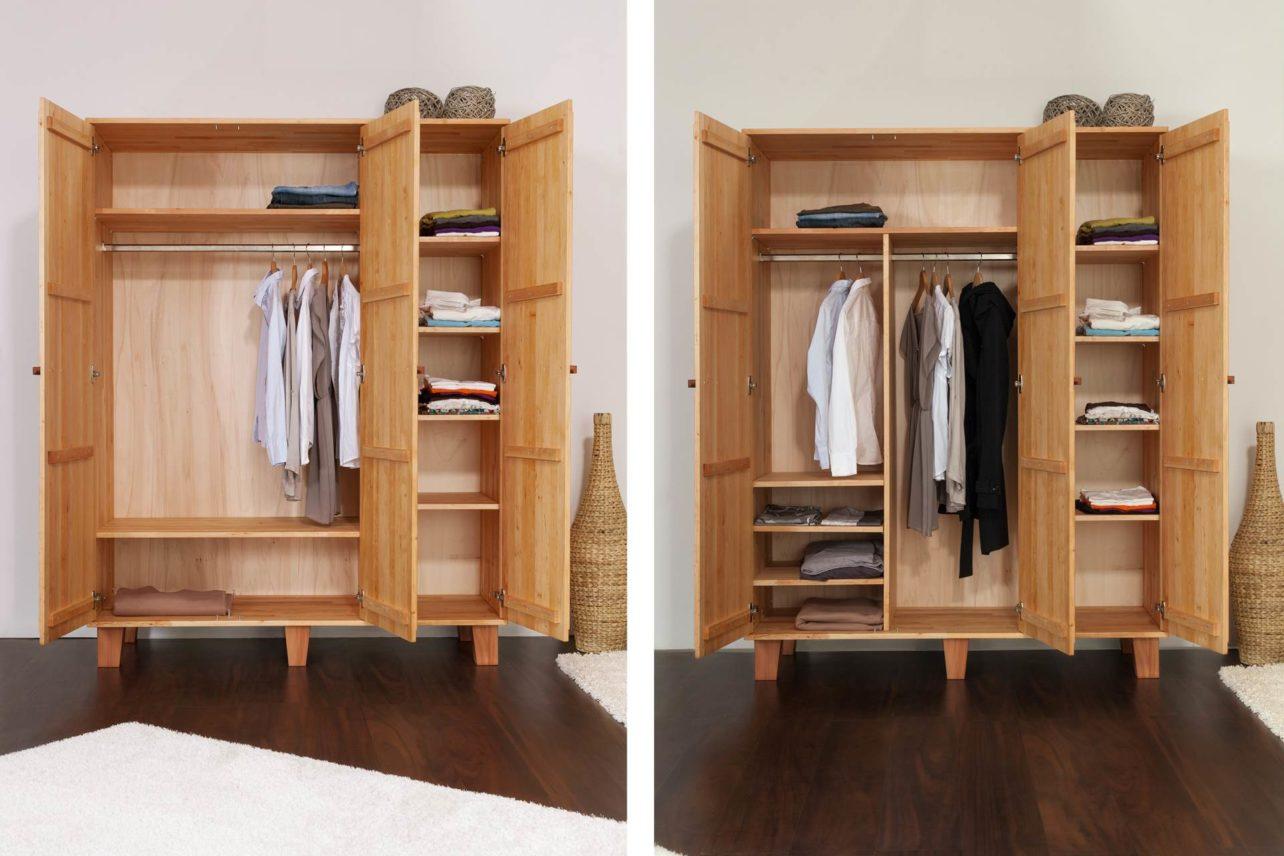 Inneneinteilung Kleiderschrank 3-türig