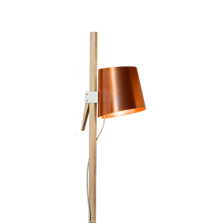stehleuchten croiz mit verkupfertem schirm wohnopposition berlin. Black Bedroom Furniture Sets. Home Design Ideas