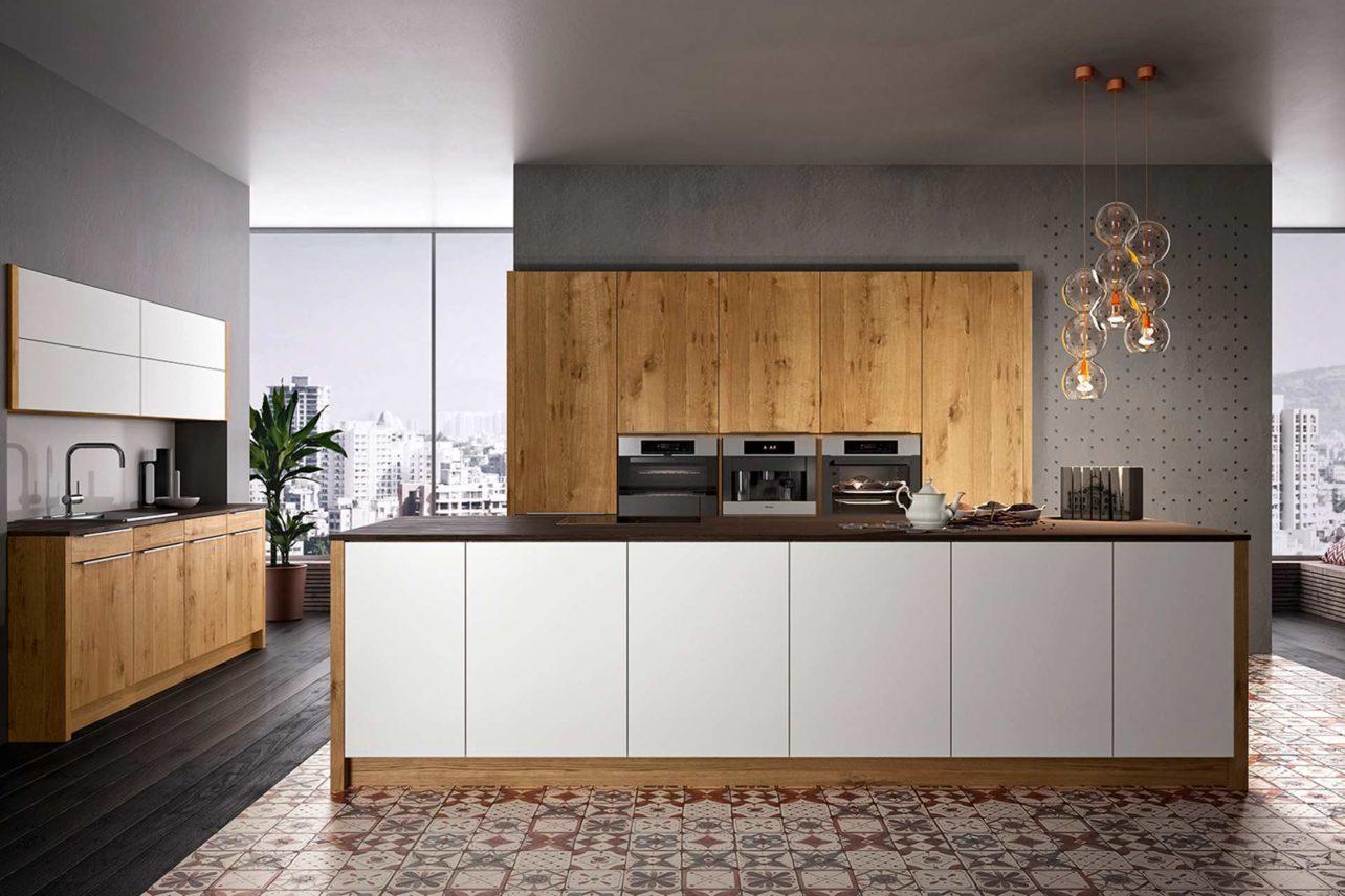 Küchenzeile Wildeichenküche Quantum