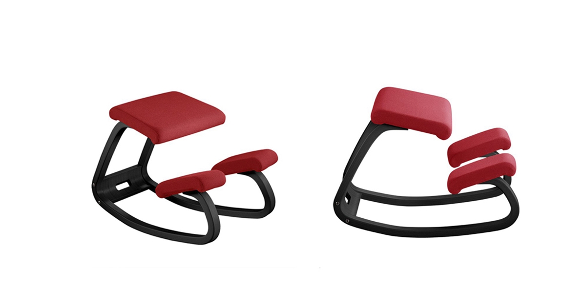Bürostuhl Variable balans mit Gestell Esche schwarz und Bezugsstoff  Fame