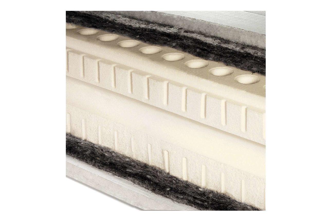 Naturlatexmatratze mit 7-Zonenkern mit Rosshaarlagen beiseitig und verschiedenen Härtegraden