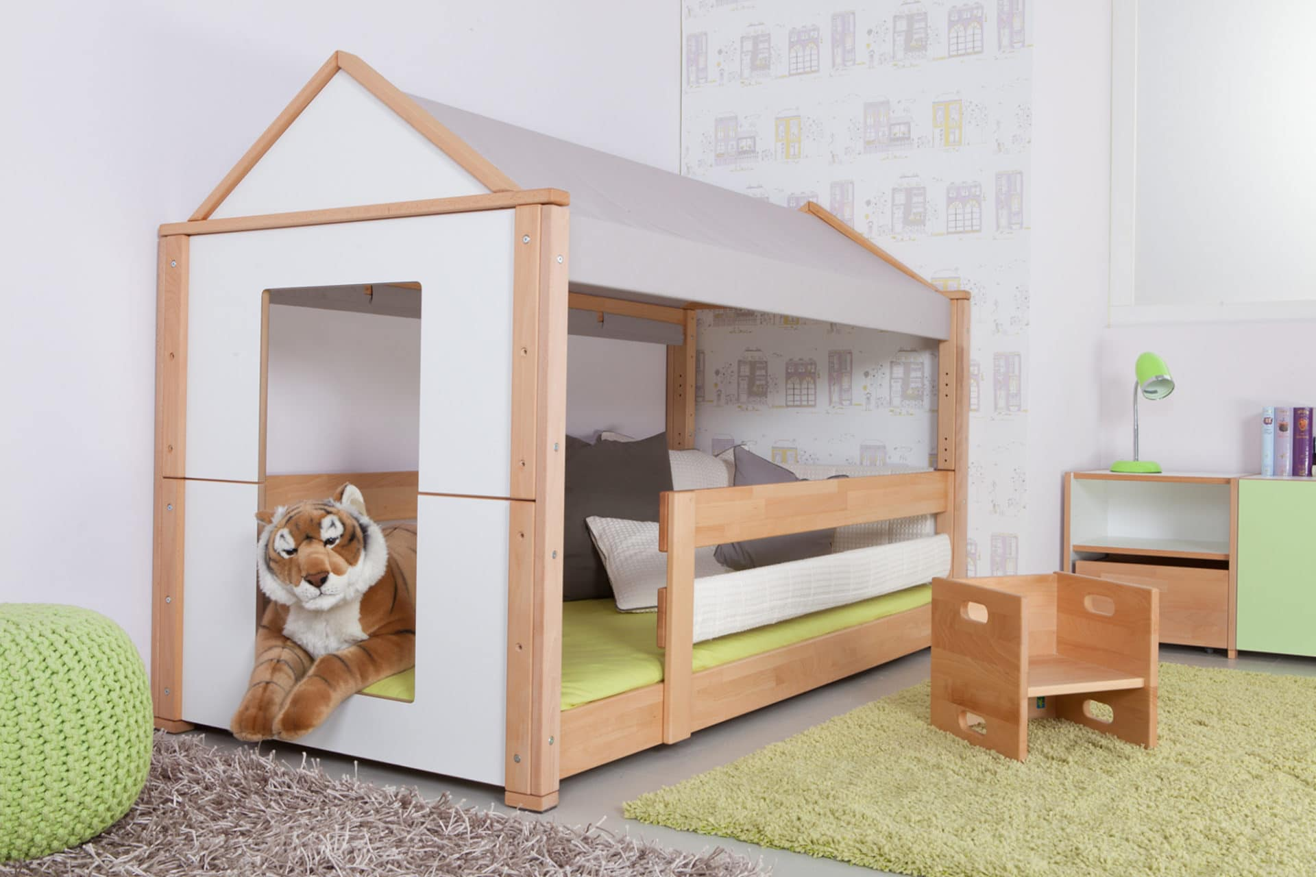 kinderbett spielhaus. Black Bedroom Furniture Sets. Home Design Ideas