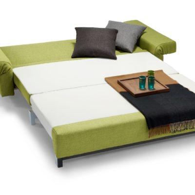 Schlafsofa Moritz Stoff grün Schlaffunktion