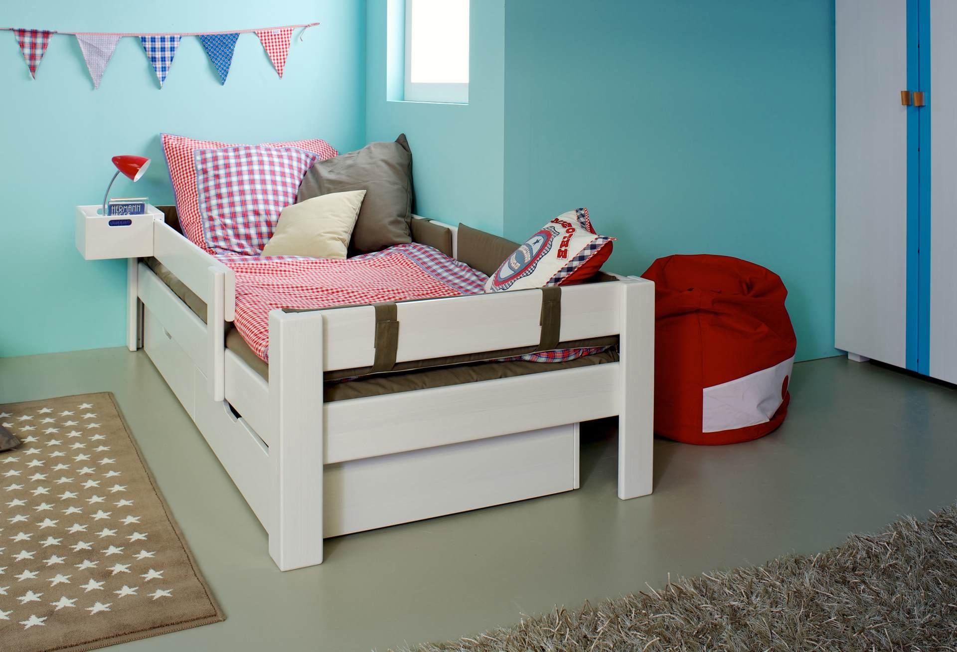 bett max weiss mit schubk sten wohnopposition berlin. Black Bedroom Furniture Sets. Home Design Ideas