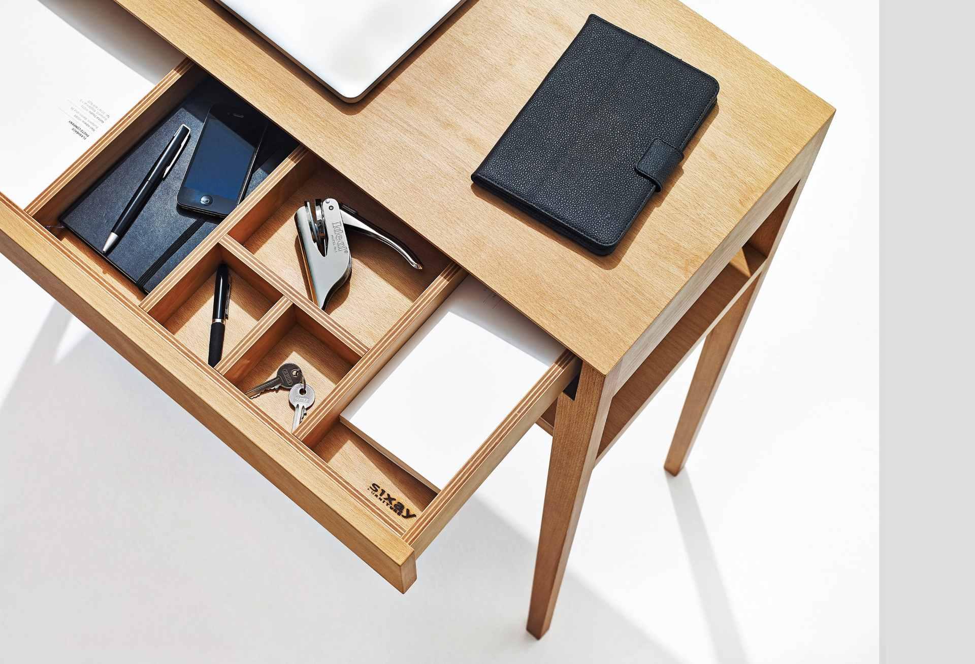 Draufsicht Theo Desk in Esche