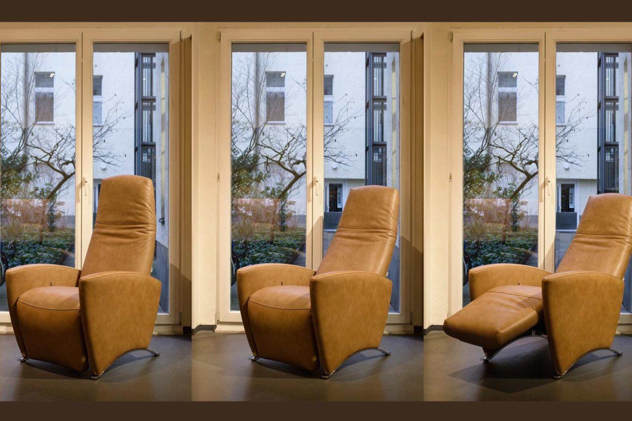 Relaxsessel Soul mit seinen verschiedenen Sitz und Liegepositionen