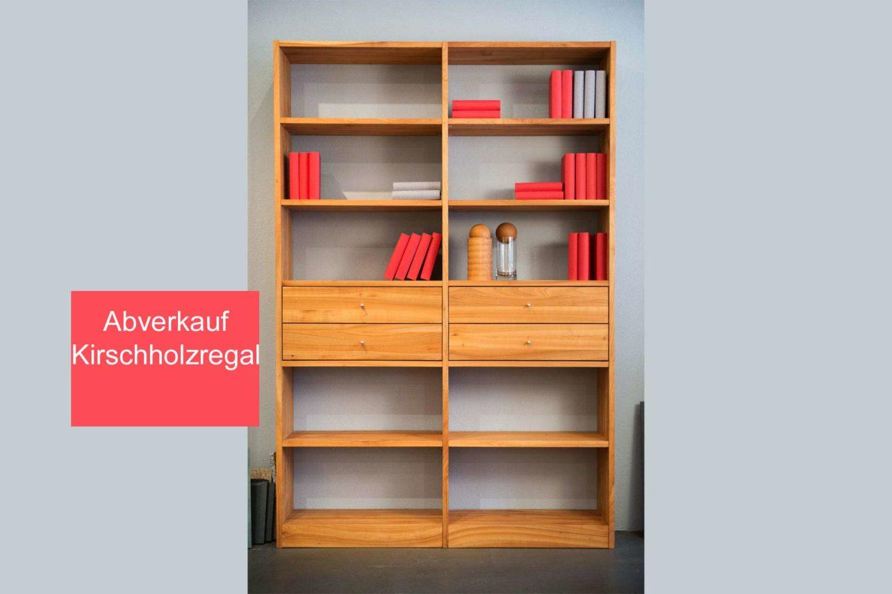 Abverkauf Kirschregal geölt mit vier Schubladen
