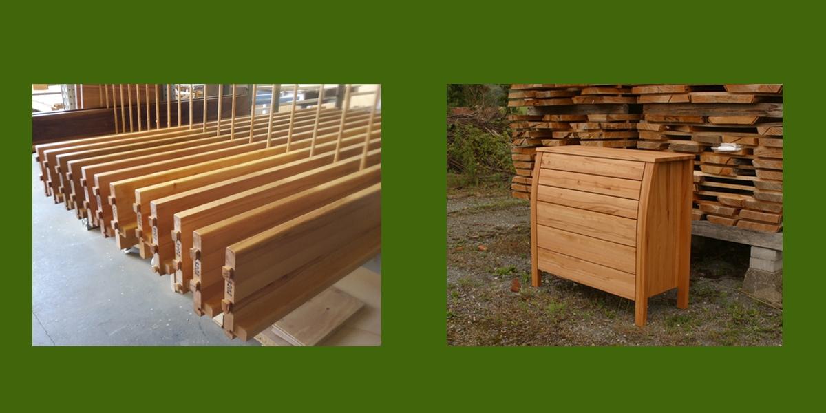 Bettseitenfertigung und Kommode der Holzschmiede