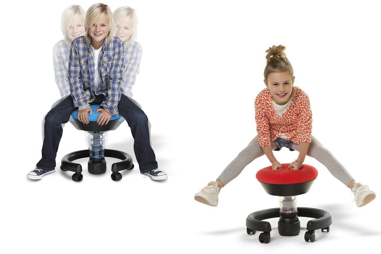 Schüler-Schreibtischstuhl mit 3D-Technologie und neuem robusten Bezugsstoff Runner