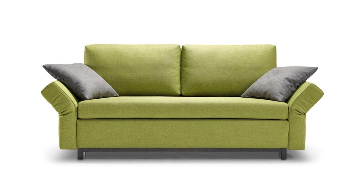 Schlafsofa Moritz Bezugsstoff grün