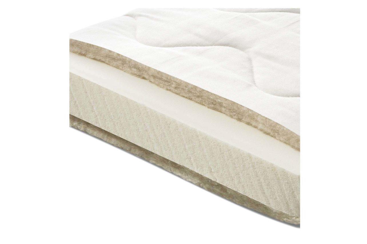 Matratzenauflage aus Sono Core Latexschaum als Ergänzung von zu festen Matratzen