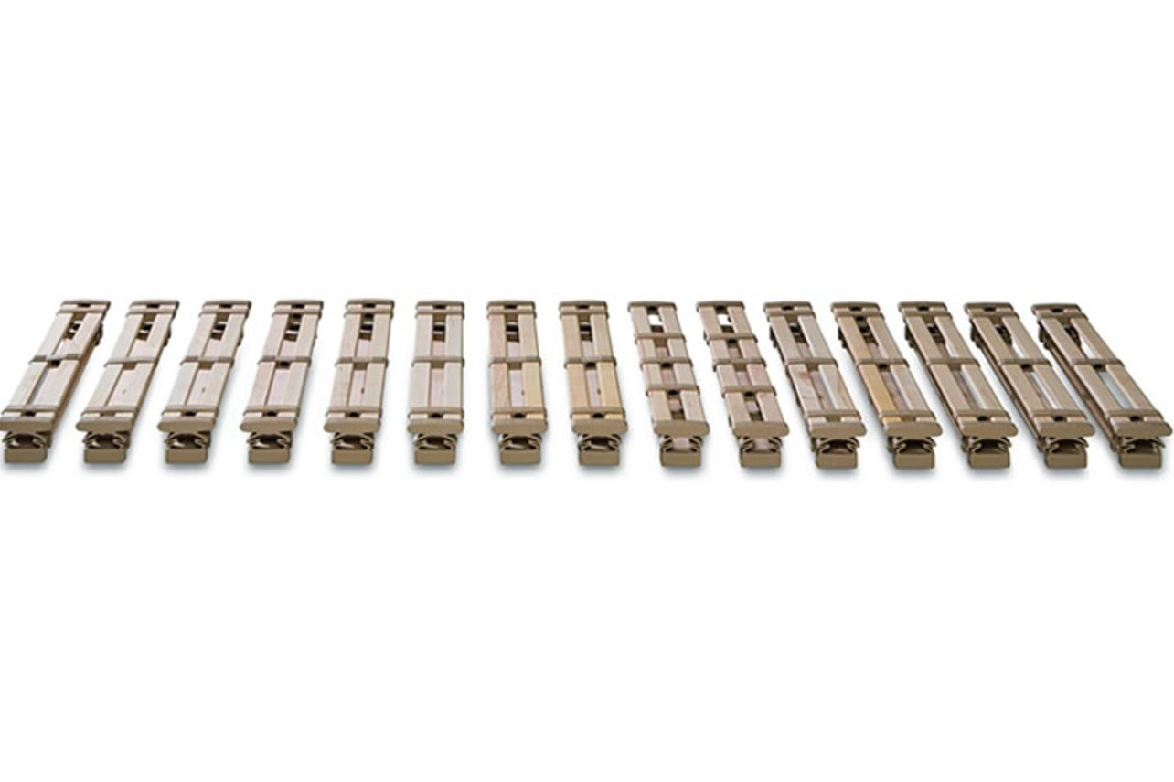 Federschienen-set 15 aus Buche mit 15 Federschienen