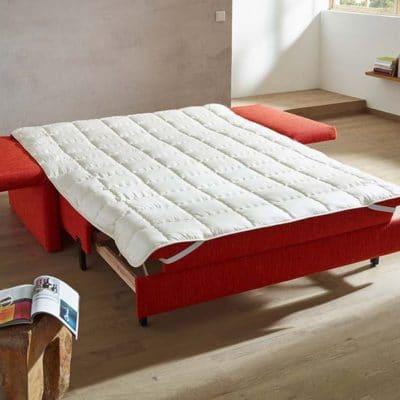 Schlafsofa Catania als Doppelbett mit optionalem Tencel Unterbett