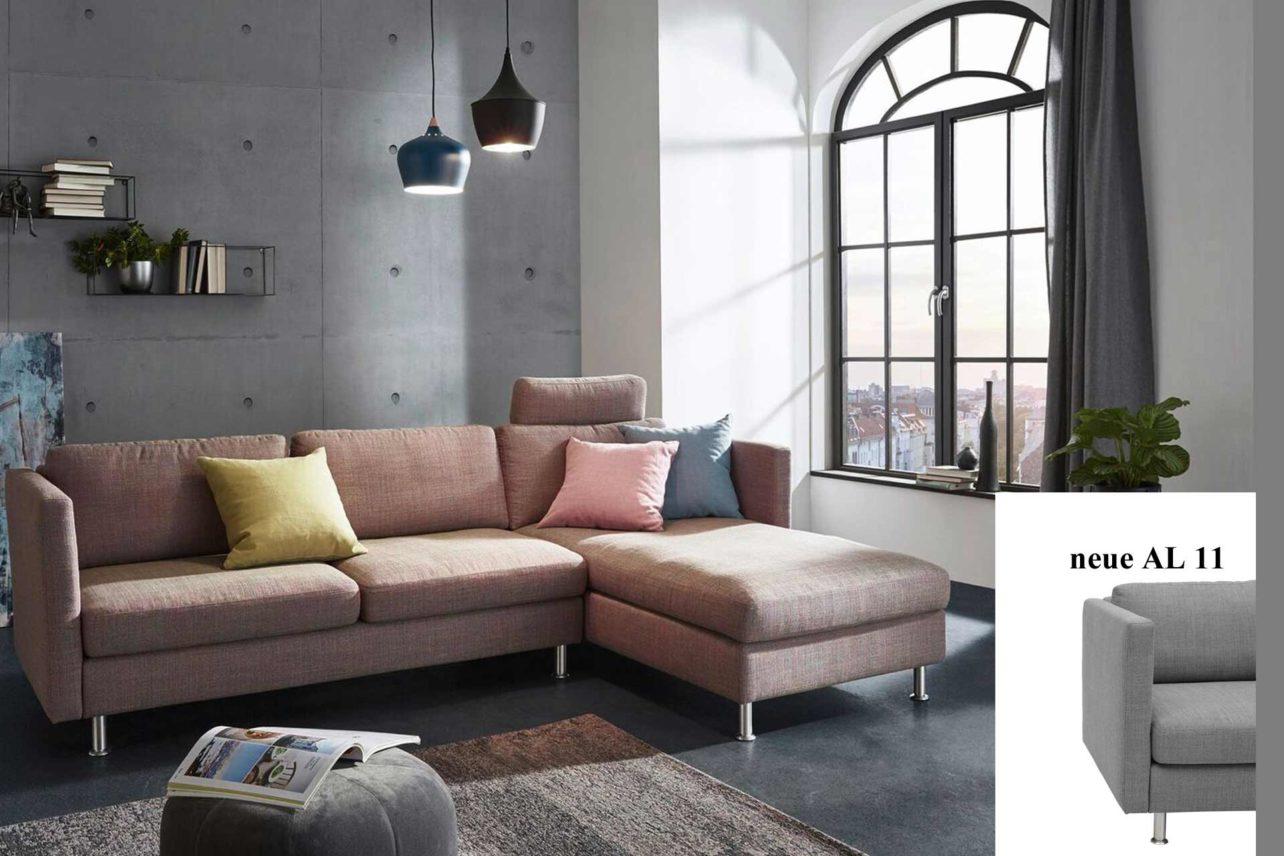 Sofa Siena mit Recamiere und neuem Fuß Typ 11