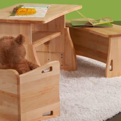 Erle-Massivholz Sitzgruppe für Kinder BeneVita Triolino