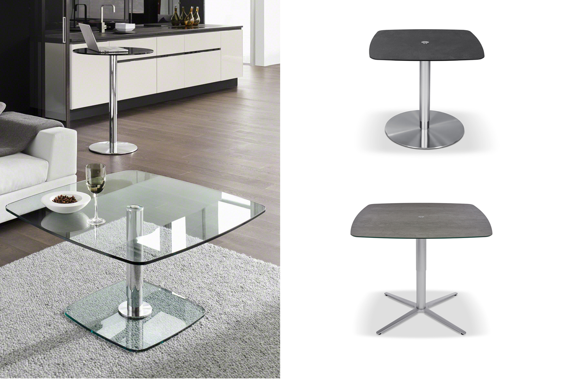 tisch p431e h he 65 bis 110 cm wohnopposition berlin. Black Bedroom Furniture Sets. Home Design Ideas