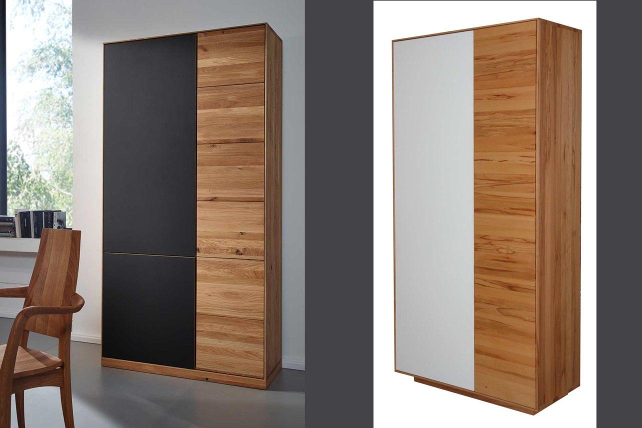 Cento Hochschränke mit Holz- & Glasfronten