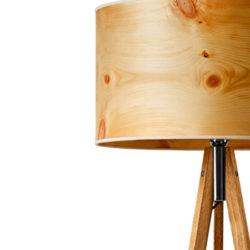 Leuchten mit Holz-, Stein- und Almheu-Furnieren