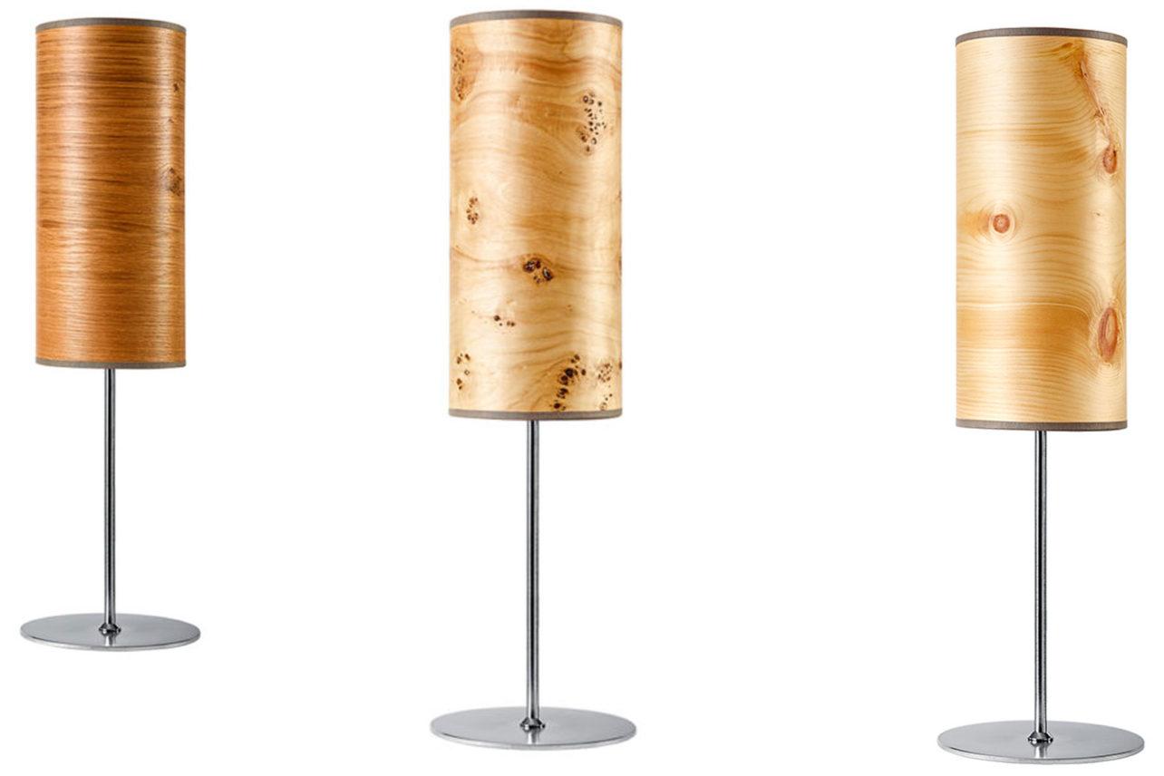 Tischleuchten Arboreus mit Echtholzfurnier