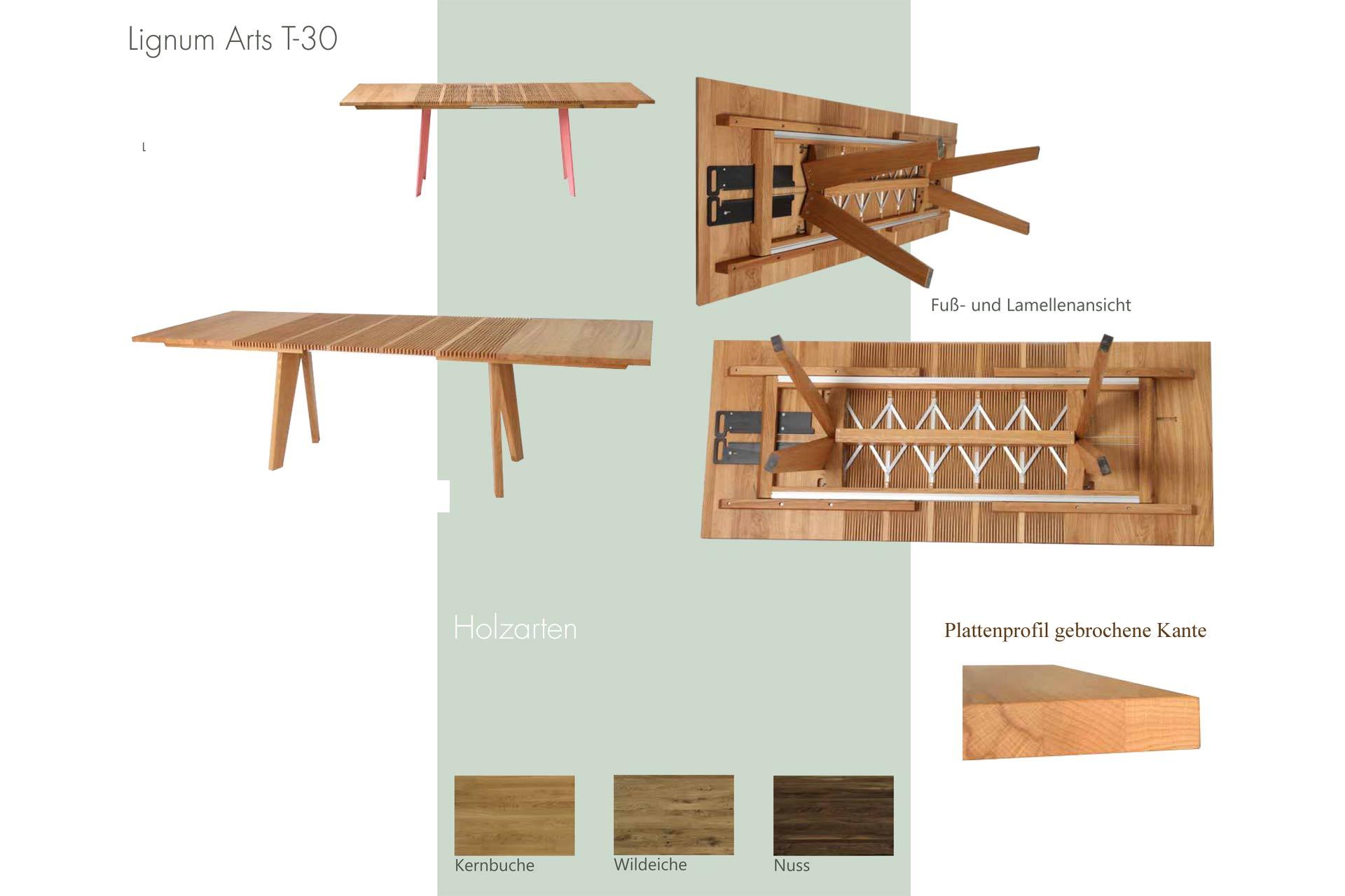 Details zu Tisch Lignum Arts T-30