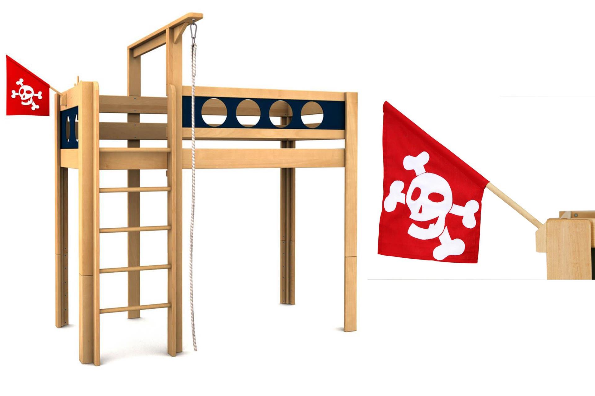 Katalogskizze Hochbett Pirat