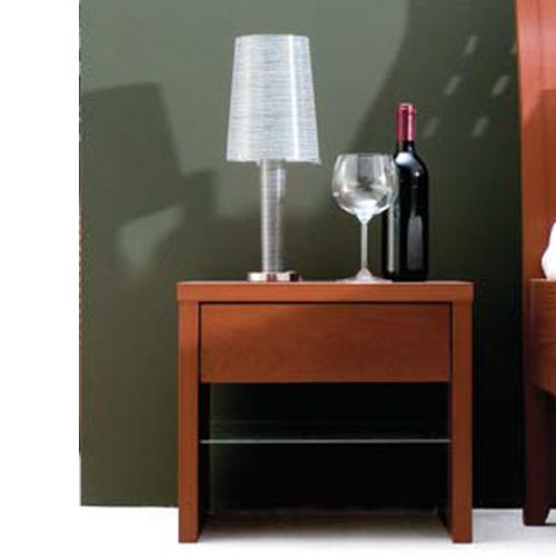 Nachttischchen Eno mit Glasablage