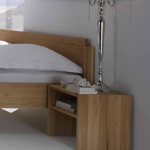 Nachttischchen Kubus offen zu Bett Basis