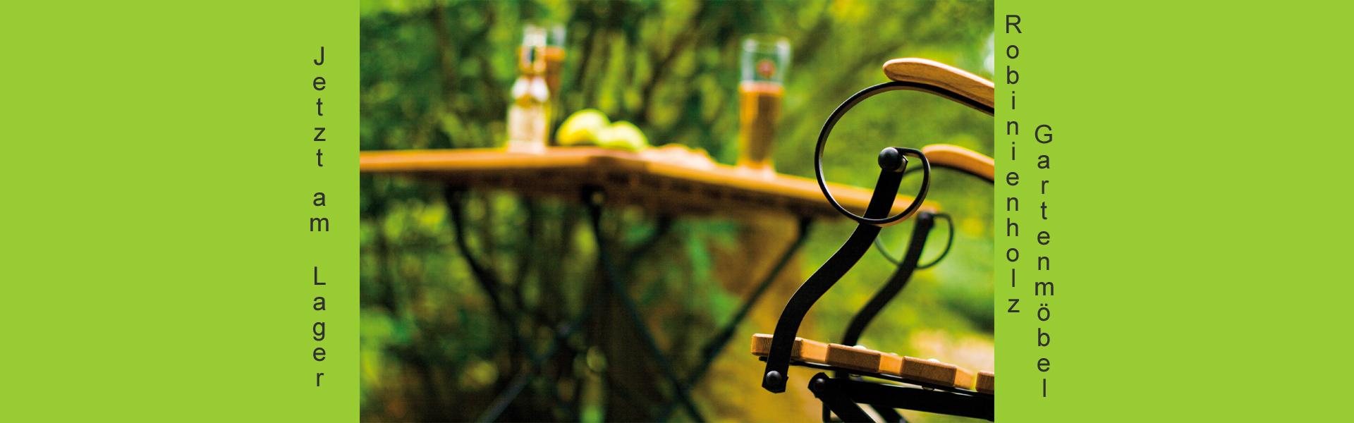 Gartenmöbel aus FSC-zertifiziertem Robinienholz