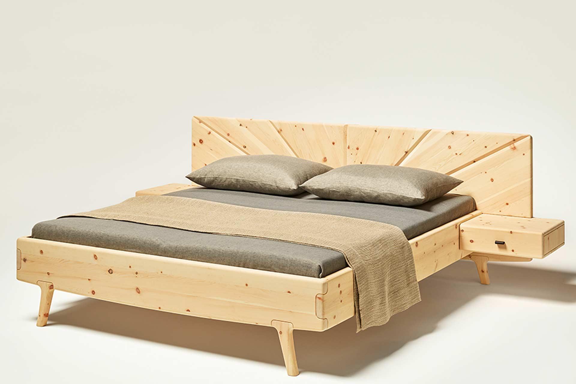 Bett Sol mit Nachtkästchen