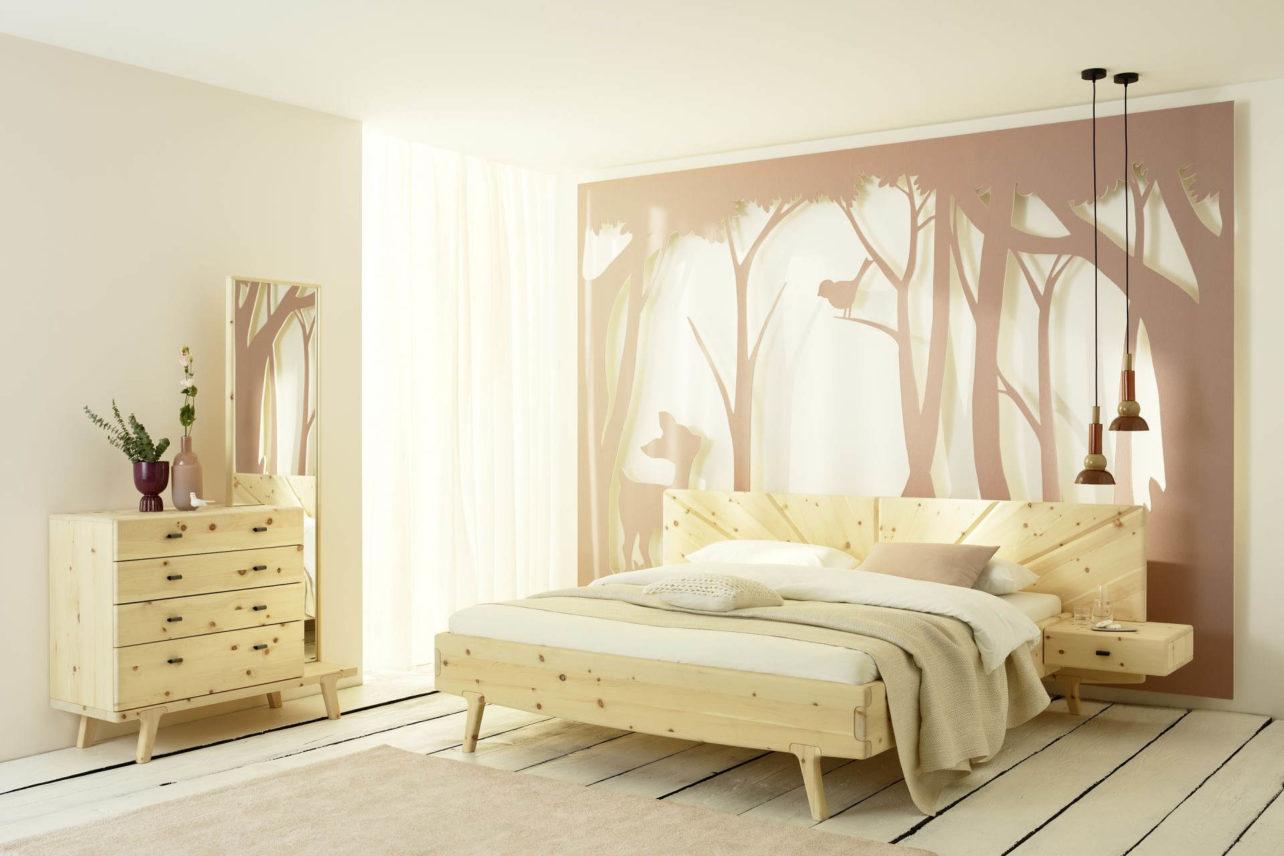 SOL Schlafzimmer in Zirbe weiß geölt