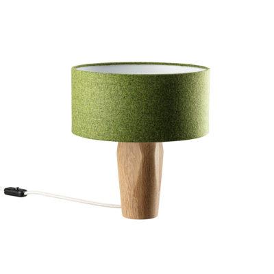 Tischleuchte Pura Filz grün Eiche